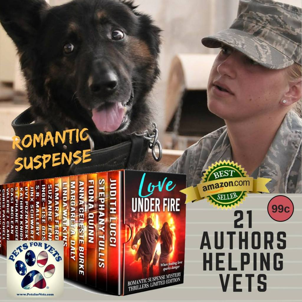 Female veteran and dog